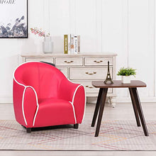 Kids Armchair Sofa Style Armrest Chair Children Room Couch Furniture (Red)