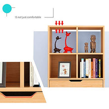 Color Wooden Bookcase with 6 Storage Compartments and 1 Drawer Storage Unit (Color : Natural, Size : 5330120cm)