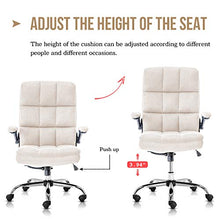 Office Chair Adjustable Tilt Angle and Flip-up Arms, Thick Padding for Comfort and Ergonomic Design for Lumbar Support (GY)