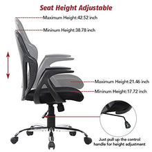 Smugdesk Mid Back Mesh Chair Ergonomic Desk Computer Swivel Office Chair, Black, Alien Face