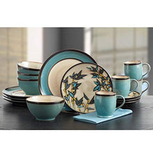 Belmont Round Blue Stalks Dinnerware Set (16 Piece)