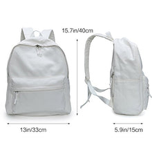 Zicac Unisex DIY Canvas Backpack Daypack Satchel Backpack(Natural White)