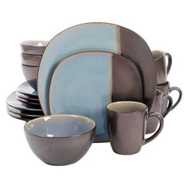 Volterra Soft Square 16 pc. Dinnerware Set Blue