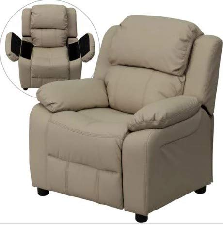 Recliner Chair Heavily Padded with Armrest Storage Relaxing Comfort for Your Little Ones