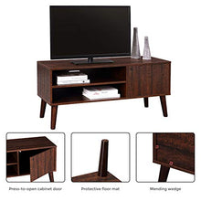 TV Stand Mid-Century Modern Entertainment Center for Flat Screen TV Cable Box Gaming Consoles, in Living Room Entertainment Room Office