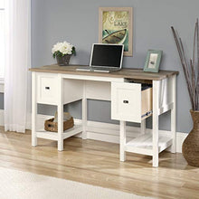 "Cottage Road Desk, L: 53.94"" x W: 19.45"" x H: 29.76"", Soft White finish"