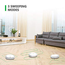 Robot Vacuum Cleaner with Slim Design, Automatic Planing for Home Tile Hardwood Floors and Low Pile Carpet, White