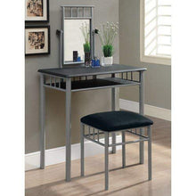 Specialties I I 3092 2-Piece Metal Vanity Set, Black/Silver