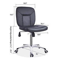 Professional Office Series Height Adjustable with Ergonomic Tilting Backrest for Drafting,Computer,Workshop, Lab, Counter (Black)