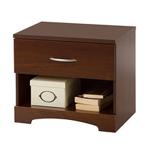 Step One 1-Drawer Nightstand, Chocolate with Matte Nickel Handles