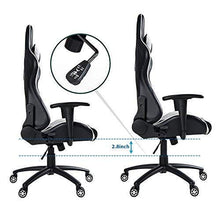 Ergonomic High Back Gaming Chair with Lumbar Support and Headrest, Blue, Black
