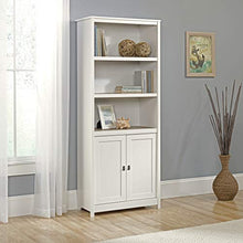 "Cottage Road Library with Doors, L: 29.29"" x W: 13.98"" x H: 71.50"", Soft White finish"
