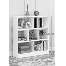 Simple Solid Wood Multi-Layer Living Room Bedroom Stylish Three-Tier Storage Shelf Storage Study Floor (Size : 100x24x105cm)