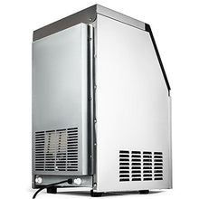 Commercial Ice Maker 150LBs with 29LBs Storage Stainless Steel Portable Automatic Ice Machine with Scoop and Connection Hoses