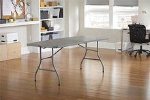 "Camande 14678BLK1 Deluxe 6 Foot x 30 inch Half Blow Molded Folding Table, Black, 72"" (Rectangle),"