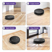Robot Vacuum Cleaner 1300Pa Strong Suction, Super Quiet, Self-Charging Robotic Vacuum Cleaner, Cleans Hard Floors to Medium-Pile Carpets (Black)