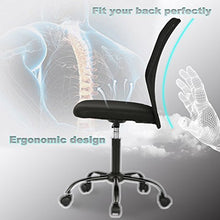 Ergonomic Office Chair Cheap Desk Chair Mesh Computer Chair Back Support Modern Executive Mid Back Rolling Swivel Chair for Women, Men