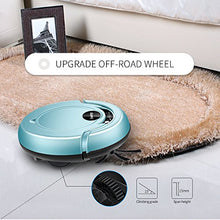 Robotic Vacuum Cleaner, Powerful Suction Robot Cleaner with Drop-Sensing System and HEPA Filter for Low-Pile Carpet and Hard Floor, Pink
