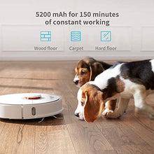 Robotic Vacuum and Mop Cleaner, 2000Pa Super Power Suction &Wi-Fi Connectivity, with 5200mAh Battery Capacity for Carpet & Hard Floor (White)