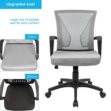 Camande Office Chair Mid Back Swivel Lumbar Support Desk Chair, Computer Ergonomic Mesh Chair with Armrest (Black)