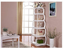 "66"" Multi-Purpose Shelves 5 Tier Bookshelf Bookcases Wooden Storage Display Shelf Standing Shelving Unit Collection Shelf, White"