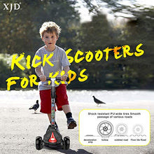 3 Wheel Scooter 4 Adjustable Height, Extra-Wide Deck, with Max Glider Deluxe PU Flashing Wheels for Kids 3 to 14 Year-Old