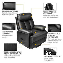 Lift Recliner Chair Power Lift Chair Lounge Sofa for Elderly Living Room Chairs with Remote Control Gentle Motor (Black)