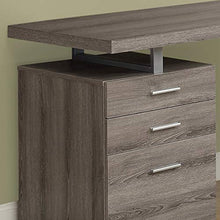 Hollow-Core Left or Right Facing Desk, 48-Inch Length, Cappuccino