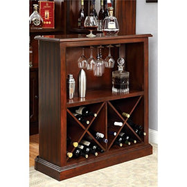 Traditional Wine Rack in Dark Cherry
