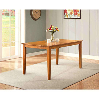 Better Homes and Gardens Bankston Rectangle 6-Person Dining Table, 58.5