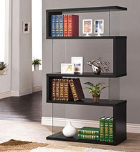 Bookcase Black and Clear