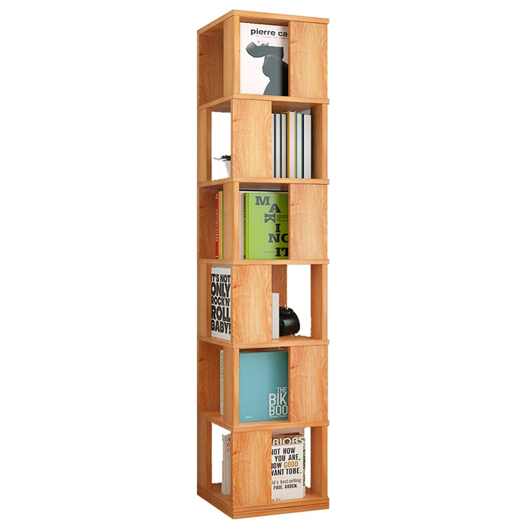 Simple Bookshelf Floor Racks, Simple and Modern Small Bookshelf Multi-Layer Storage Rack, Home Thickened Assembly Rotatable Bookshelf