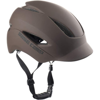 BASE CAMP Adult Bike Helmet with Rear Light for Urban Commuter - Adjustable M L Size (21.65-24 Inches)