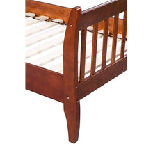 Bed Frame Platform Mattress Base and Solid Wood Board Support (Walnut, Double) Good Mood, Good Life