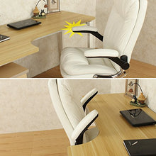 Ergonomic Executive Office Chair, High-Back Office Desk Chairs Leather Computer Chair Adjustable Tilt Angle and Flip-up Arms Big