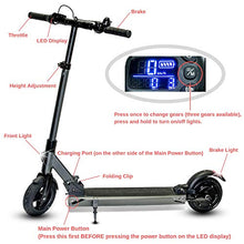 V-Fire Foldable Electric Scooter for Adults - Max Speed of 15mph and up to 12 Mile Range