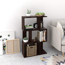 5 Tier Bookcase, Storage Shelf and Storage Cabinet Organizer Espresso