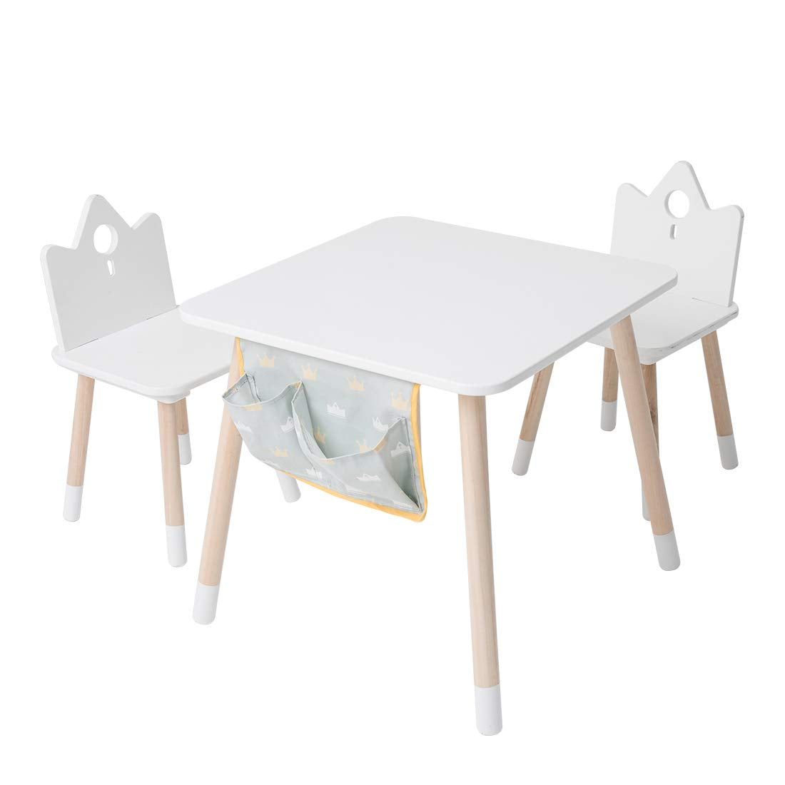 Outstanding Kids Wood Play Around Activity Table And Chair Set White Dailytribune Chair Design For Home Dailytribuneorg