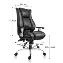 Executive Office Chair Ergonomic Heavy Duty Chair Leather Adjustable Swivel Comfortable Rolling Chair