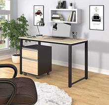 Simple Design Computer Desk Table Workstation for Home & Office (White and Oak)