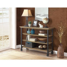 Kitchen Cart with Wine Rack and TV Stand Feature