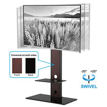 TV Stand Base with Swivel Mount Height Adjustable for 26 to 55 Inch TV TT106001MB,Two Kinds of Packaging Random Delivery