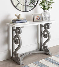 Wyldwood Country French Solid Wood Console Table - Rustic/White Legs - Natural Wood Top