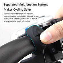 Mini Electric Bike Horn Electronic Bicycle Bell | Rechargeable | Waterproof | Loud Volume | 3 Horn Sound | Easy to Install