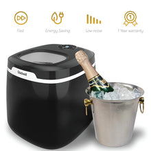 Portable Countertop Ice Maker Machine,50 LB Of Ice Cubes Small/Regular Low Noise No Plumbing Easy To Clean Mini Machines (Silver)