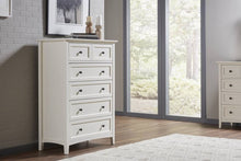 Five-Drawer Chest, White
