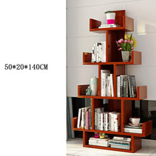 Wood Bookcase Bookshelf Free Standing Display Unit Shelving Rack Storage Organizer Living Room Office 5025140cm (Color : Blue)