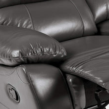Greeley Manual Reclining Sofa, 79�W, Gray Genuine Leather