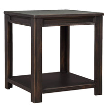 Retro Style Square Side Table Sofa End Table with Open Shelf for Living Room Furniture