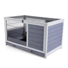 "Indoor Rabbit Hutch with Hideout for Rest and Ramp for Enter and Out, 35.5"" x 21"" x 21"""